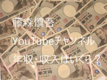 【藤森慎吾のYouTubeチャンネル】年収・収入はいくら?これからも藤森慎吾は安泰!